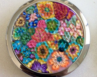 Polymer Clay Compact Pill Case