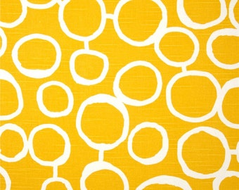 Free Hand Slub Corn Yellow Premier Prints Fabric - One Yard - Yellow and White Home Dec Fabric