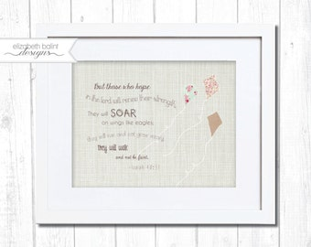 Bible Verse Nursery Artwork. Printable.