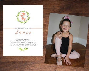 Ballet Recital Invitation, Large Photo