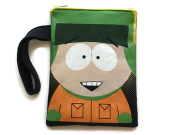 South Park Kyle Clutch • Upcycled T-shirt Bag • Wristlet • South Park Gift