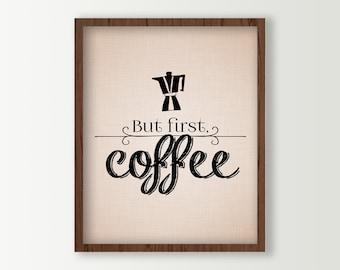 Coffee Kitchen Decor - Coffee Sign - Coffee Wall Art Poster Print - Kitchen Wall Decor