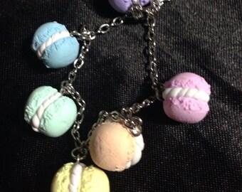 Rainbow macaroon pastel bracelet