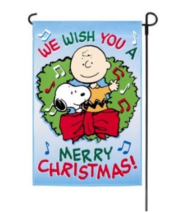 Christmas Garden Flag Snoopy Flag Vintage Snoopy Peanuts