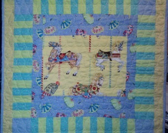 Carousels and Parasols baby quilt