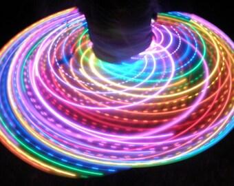 Hyper Rainbow - LED Rechargeable Hula Hoop - ON SALE