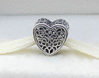 Pandora Sterling Silver Filled with Romance Charm