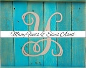 """Wooden Monogram Letter """"Y"""" - Large or Small, Unfinished, Cursive Wooden Letter - Perfect for Crafts, DIY, Weddings - Sizes 1"""" to 42"""""""
