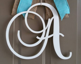 """Family Name Letter - Large or Small, Unfinished, Cursive Wooden Letter - Perfect for Crafts, DIY, Weddings - Sizes 1"""" to 42"""""""
