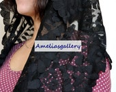 100% Hand Embroidered catholic spanish lace mantilla chapel veil