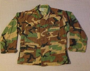 Camouflage, US Army, shirt-jacket, Men's size Small, XX Short