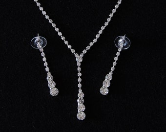 Bridesmaids Necklace And Earring Set, Crystal Necklace And Earrings, Bridesmaids Accessories, Bridesmaids Gifts, Wedding Jewelry