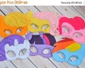 SALE Little Pony inspired dress up and birthday party favor masks, Pony costume, Pony Halloween, Pony Birthday
