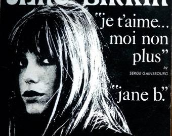 Jane Birkin & Serge Gainsbourg ~ Je Taime Moi 7 inch vinyl single 1969 Avanguard