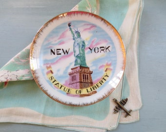 New York Statue of Liberty Souvenir Plate