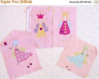 ON SALE Pink Laura Ashley Fun Fairies Scraps 4pc