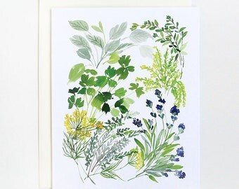 Herb Composition - A2 Greeting Card