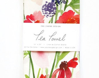 Botanical Gardens - Watercolor Tea Towel