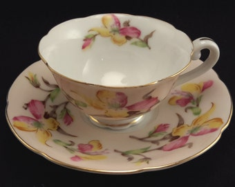 Jyoto China Tea Cup and Saucer Made in Japan