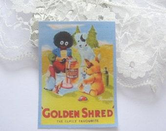 dollhouse teddy tea towel marmalade ad vintage design 12th scale miniature