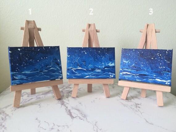 Mini paesaggi marini dipinti in acrilico di sonia nicolson for Paesaggi marini dipinti