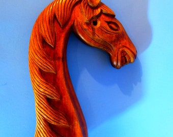 Hand Carved Wood Rocking Horse or Merry-go-round Horse Head