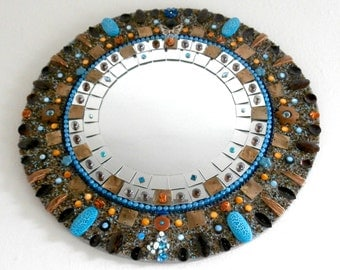 Custom Mirror - Mosaic Mirror - Decorative - Mosaic Art - Mosaic Jewelry
