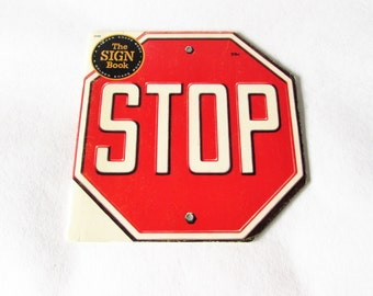 Stop The Sign Book Vintage Golden Shape Children's Book