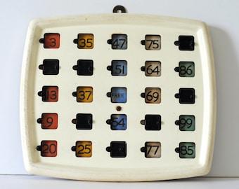 Vintage Bingo Board