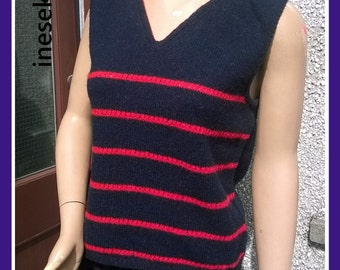 Shetland vest,Hand made vest,made in Shetland from real  Shetland wool. Sleeveless,Knitted top