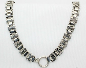 Victorian Ladies Collar in Sterling Silver