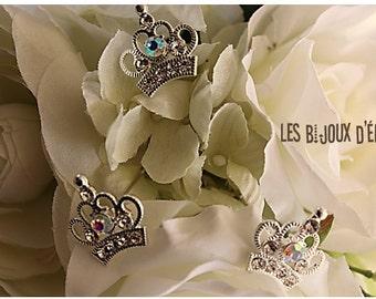 Set of 6 pcs Rhinestone Princess Crown Hair Pins  Crown Bobby Pins - Bridesmaid and Wedding Gift (HP20)