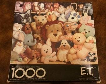 1982 E.T. Puzzle by Springbok 1000 Pieces Hallmark Classic Movie Closet Scene Card Table Size 24 by 30 inches Collectible 80s Cinema