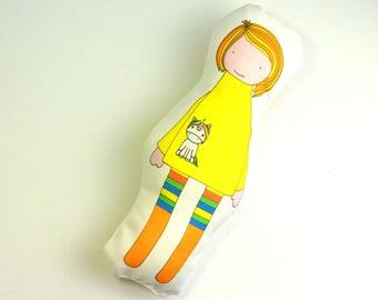 Little Girl's Doll - Unicorn Doll - Nursery pillow - Baby Pillow - Baby's first doll - Doll Pillow - Child's Nursery Toy