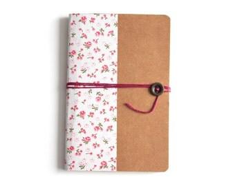 Notebook handmade size A6 - floral - school supplies