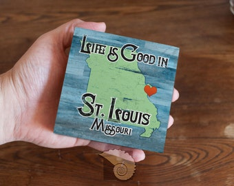 Personalized Gift, Life is Good in map wood panel, art box, house warming gift, home decor, wall art, customized gifts,