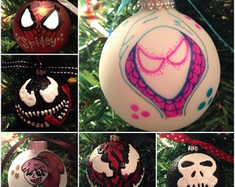Marvelous Heroes and Villains Ornaments