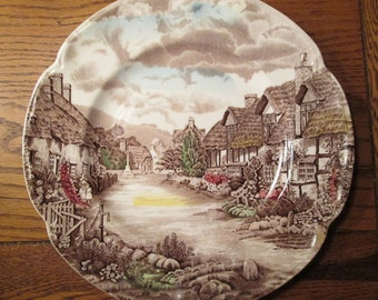 Olde English Countryside plate, vintage