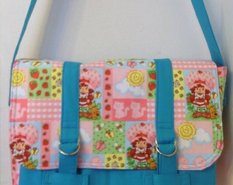Strawberry Shortcake Inspired Summer Patch Diaper Bag, Messenger Bag