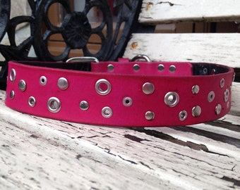 "Original leather dog collar, 1.5"""