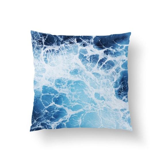 Ocean Blue Decorative Pillows : Blue Ocean Surf 3 Throw Pillow Cover Ocean by NatureCityCo