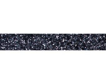 "Charcoal - 5 Yards 3/8"" Glitter Elastic - 3/8-G-013"