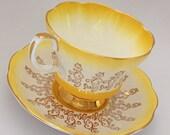 Royal Albert Overture Series Yellow Tea Cup and Saucer