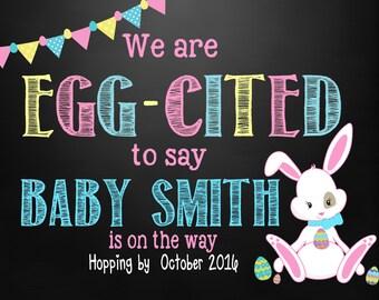 Easter Pregnancy Announcement  Easter Announcement   Easter Pregnancy Reveal   easter peeps   Easter chalkboard   Easter Egg Hunt