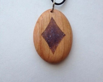 Cherry Pendant With Amethyst Inlay