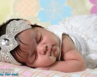 Rhinestone Headband, Baby Headband, Baby Girl Headband, Toddler Headband, Newborn Headband, Fancy Headband, Flower Girl Headband