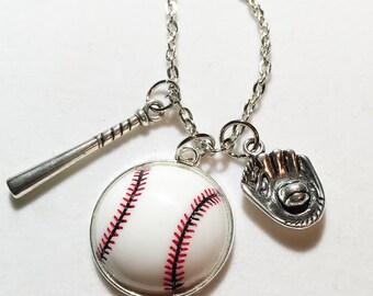 Baseball charm necklace baseball