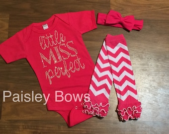 Little miss perfect, baby girl outfit