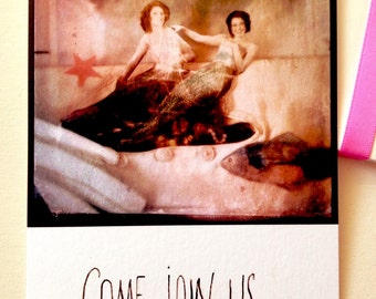 Come join us! Art print card