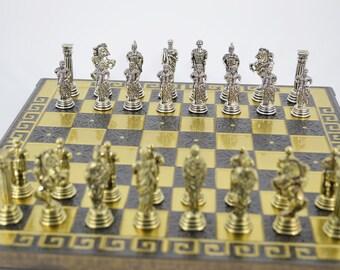 Romans Chess set (28X28) / Bronze chess board